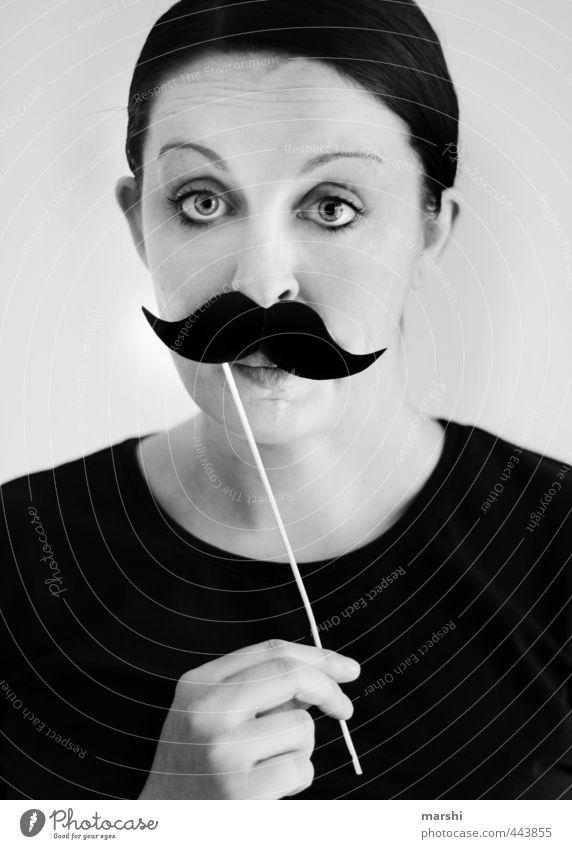bonjour mon ami Mensch Frau Jugendliche Junge Frau schwarz Erwachsene Gesicht feminin lustig Stil Mode maskulin Freizeit & Hobby Lifestyle Bart Maske
