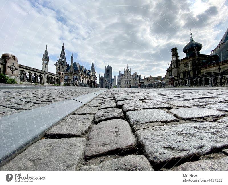 Sint Michielsbrug , Gent Belgien Architektur Stadt Ferien & Urlaub & Reisen historisch Tourismus Altstadt Pflastersteine Europa Sehenswürdigkeit Städtereise