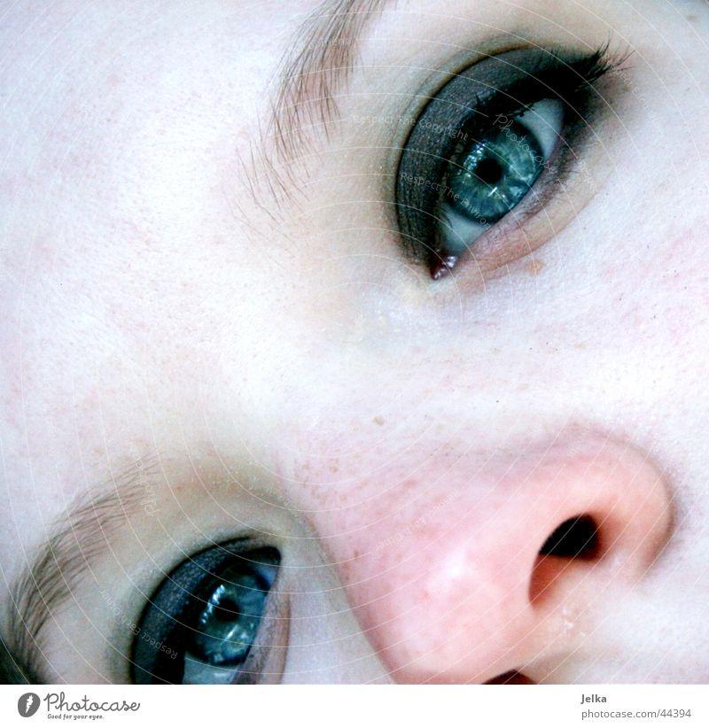 nase... schön Gesicht Kosmetik Schminke Wimperntusche Mensch feminin Mädchen Junge Frau Jugendliche Erwachsene Auge Nase 1 13-18 Jahre Augenbraue Lidschatten