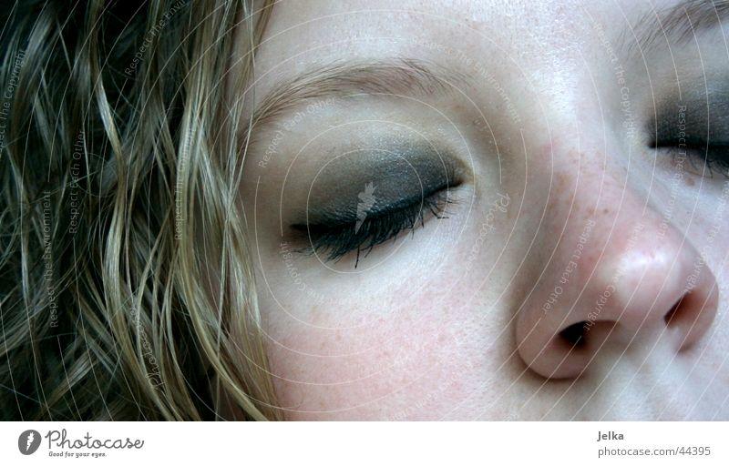 moi! Frau Mädchen Gesicht Erwachsene Auge feminin Haare & Frisuren blond Mund Nase Locken Wimpern Augenbraue Kind
