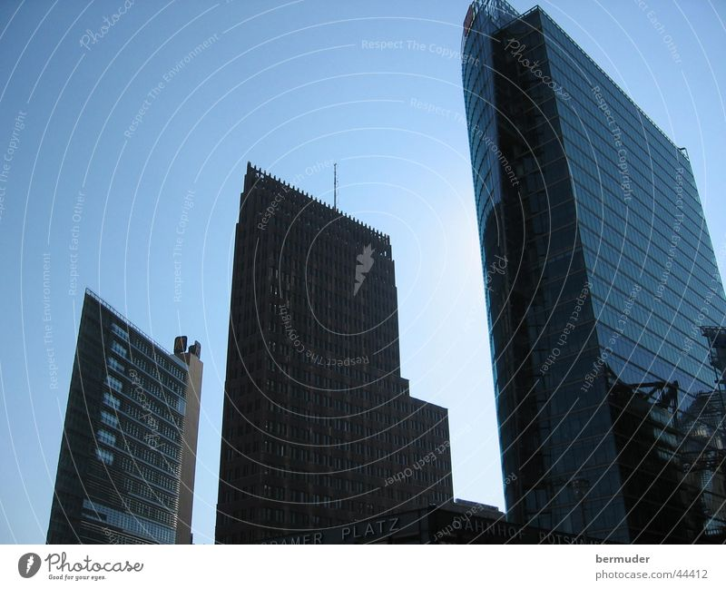 die Drei Hochhaus Architektur Skyline