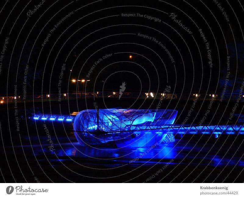 Murinsel Nacht Stimmung ruhig Architektur Fluss Acconci