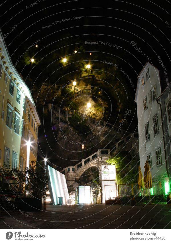 Schlossberg at night Berge u. Gebirge Architektur Treppe Platz Lichtstimmung