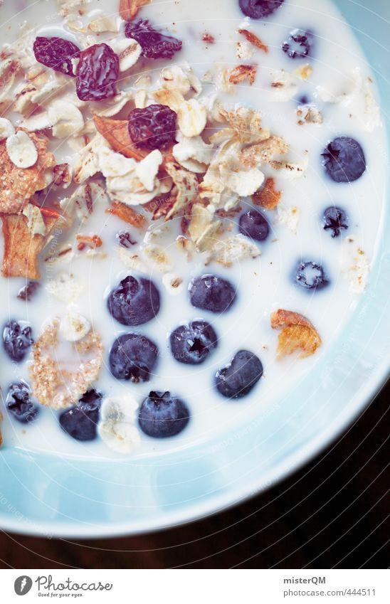 Heidelbeersuppe. Kunst ästhetisch Blaubeeren Frühstück Frühstückspause Frühstückstisch Müsli Foodfotografie Gesunde Ernährung Vegetarische Ernährung