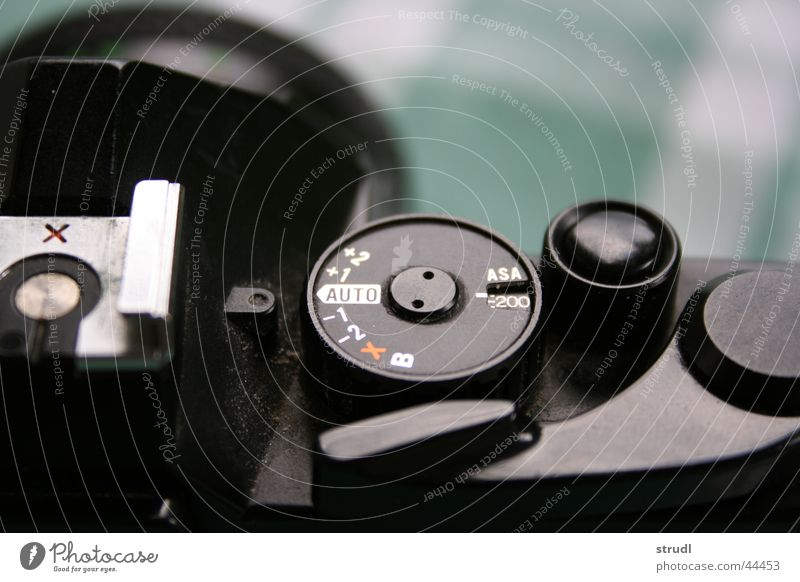 Verstaubte Technik Fotografie Apparatur Staub manuell Entertainment Fotokamera alt porst Reflexion & Spiegelung