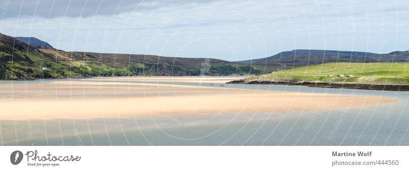 Kyle of Durness Ferien & Urlaub & Reisen Ausflug Ferne Freiheit Natur Landschaft Sonnenlicht Hügel Küste Strand Bucht Großbritannien Schottland Europa schön