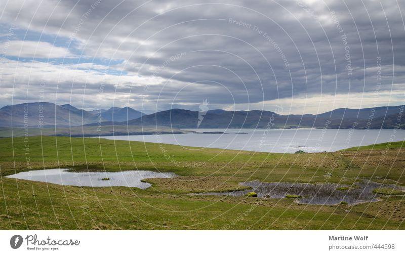 Faraid Head Ferien & Urlaub & Reisen Ausflug Abenteuer Ferne Natur Landschaft Wolken Berge u. Gebirge Küste Meer Atlantik Teich Großbritannien Schottland Europa