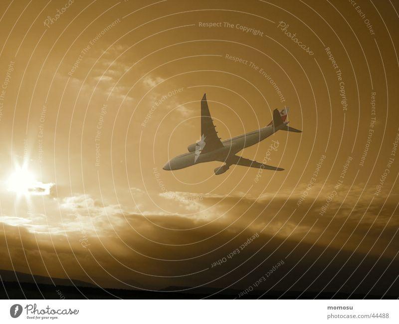 austrian airlines Flugzeug Luft Wolken Ferien & Urlaub & Reisen Luftverkehr Himmel Austrian Airlines