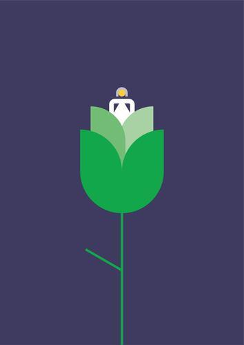 Öko-Blume Ökologie wachsen Grafik u. Illustration psychische Gesundheit graphisch einfach ökologisch