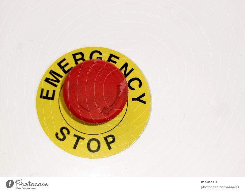 emergency stop stoppen Notfall Knöpfe Schalter Industrie Emergency