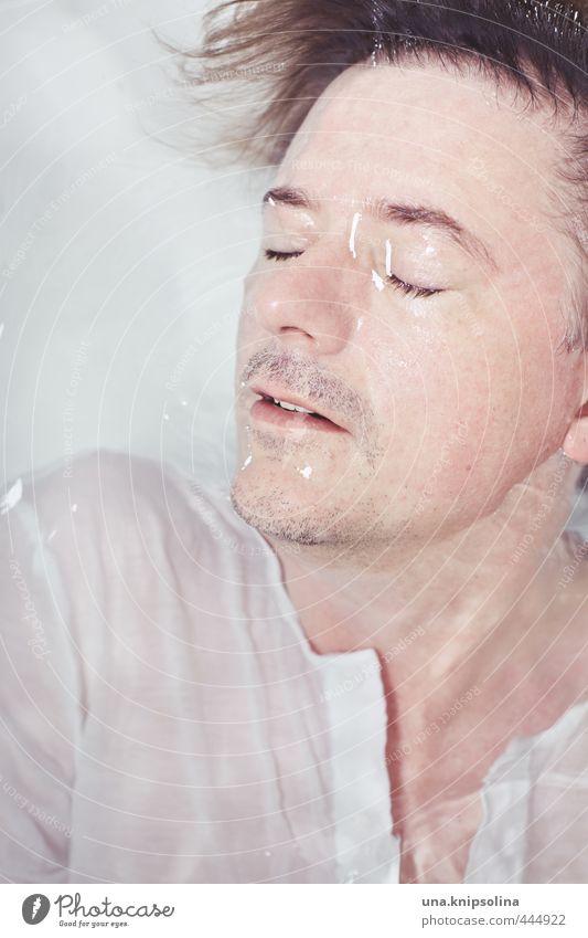 unter.wasser Mensch Mann schön Wasser Gesicht Erwachsene Haare & Frisuren natürlich Gesundheit träumen glänzend blond Haut wild nass Badewanne
