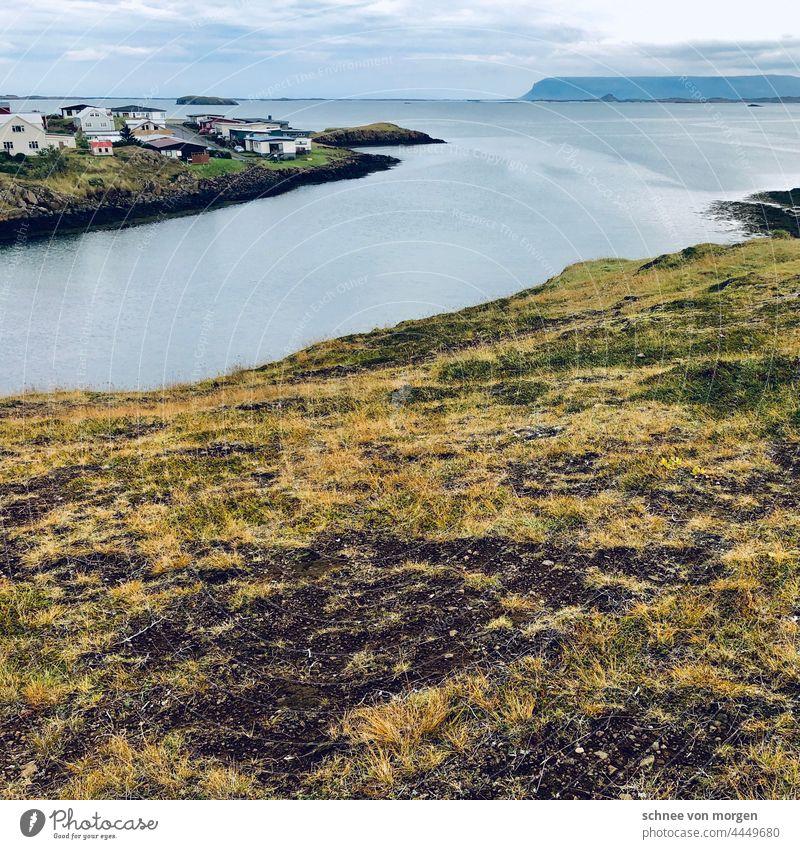 Sein zum Glück Island Ruhe Insel Himmel Strand Ferien & Urlaub & Reisen Außenaufnahme Natur Landschaft Wolken Wasser Tourismus Ferne blau Umwelt Wellen Freiheit