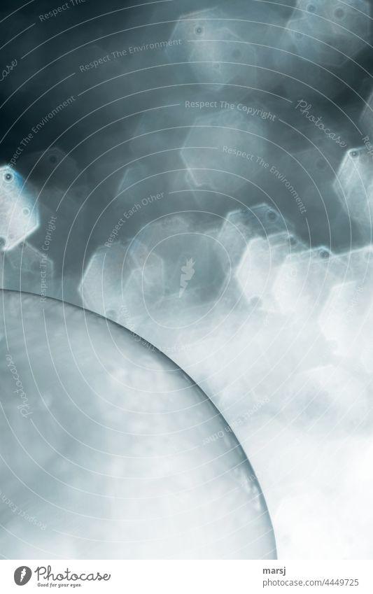 Träumereien zu Wochenbeginn. Viertel einer Kugel vor Bokeh-Traumwelt. außergewöhnlich Lichterscheinung Vergänglichkeit Seifenblase Reflexion & Spiegelung