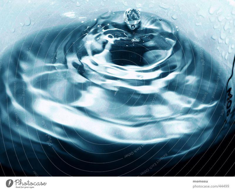 raintrops in my cup Wasser blau Regen Wassertropfen Kreis Tasse Teetasse