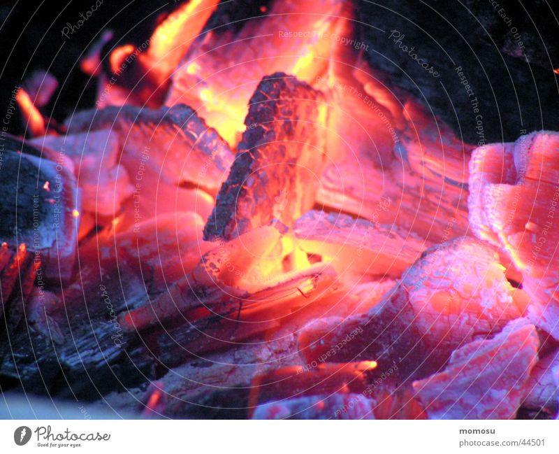 glut Glut heiß Brand grillen. Holzkohle
