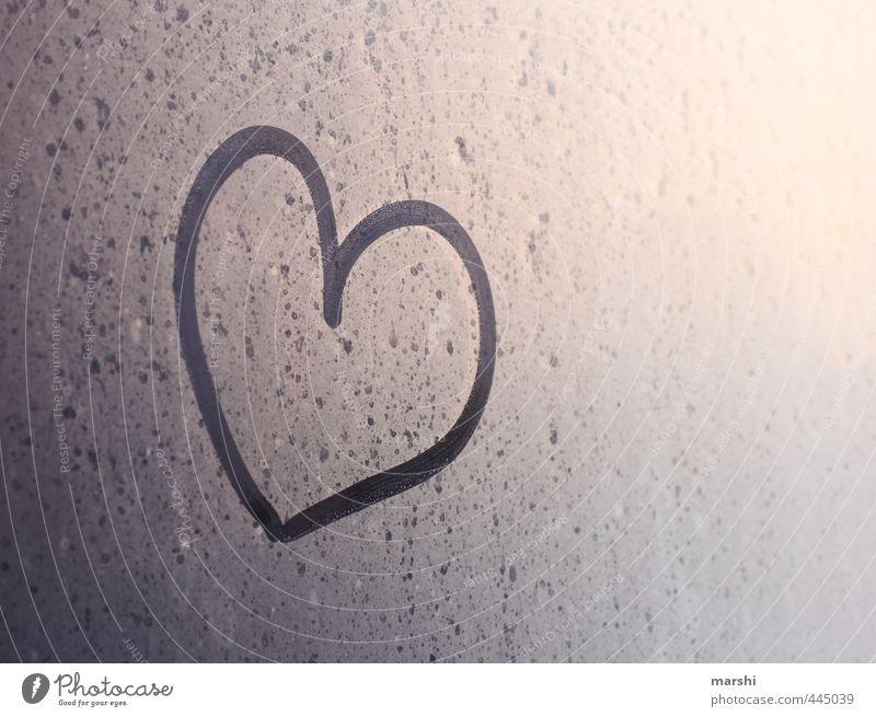 Liebeserklärung Klima Wetter Gefühle Herz herzlich Symbole & Metaphern Tau morgends Farbfoto Außenaufnahme Innenaufnahme Morgendämmerung Dämmerung