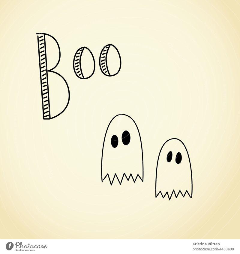 boo - zwei kleine gespenster geist geister halloween spooky niedlich verkleiden verkleidung erschrecken spuk spuken feiertag fest party spaß unheimlich