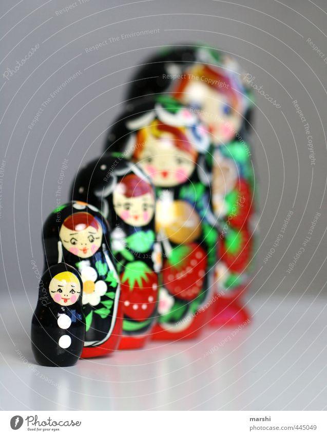 wenn ich groß bin, dann werde ich eine Matrjoschka rot schwarz Spielen Holz klein Freizeit & Hobby Dekoration & Verzierung Reihe Puppe Russland Matroschka