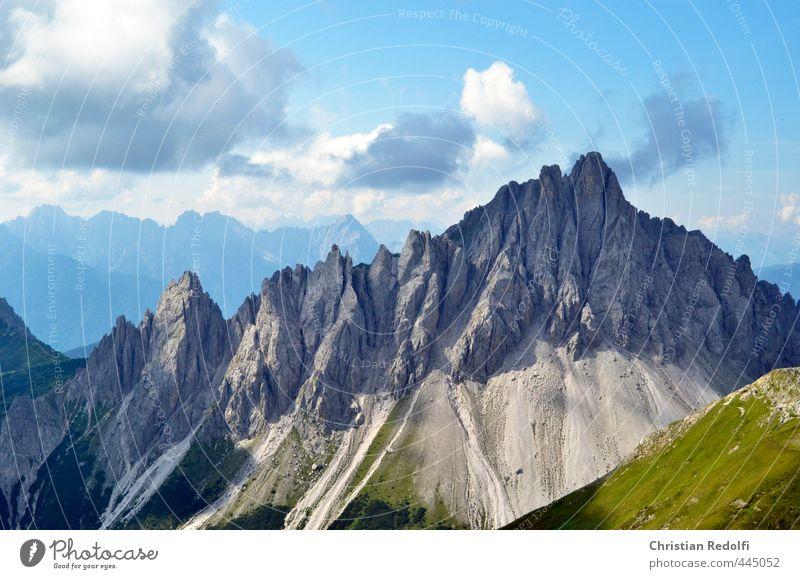 Dolomiten Ferien & Urlaub & Reisen Tourismus Ausflug Sport Fitness Sport-Training Klettern Bergsteigen Umwelt Natur Landschaft Pflanze Tier Urelemente Wetter