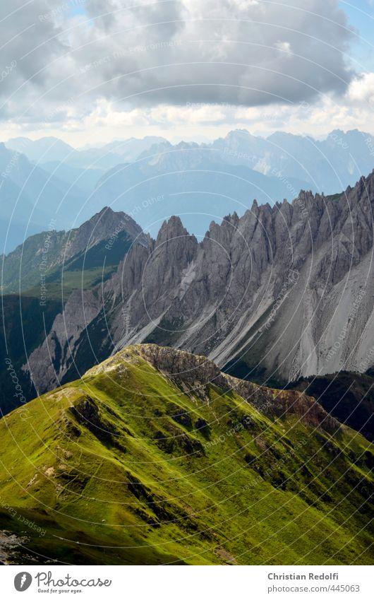 Dolomiten Natur Ferien & Urlaub & Reisen Sommer Pflanze Landschaft Wolken Tier Berge u. Gebirge Wiese Leben Herbst gehen Felsen Freizeit & Hobby Tourismus wandern