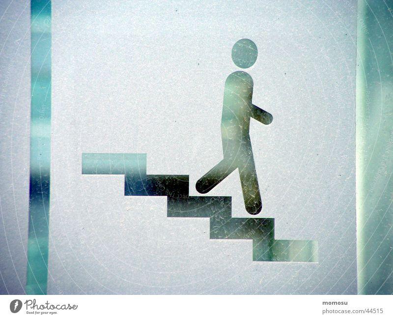 ...langsam gehts bergab Mensch Schilder & Markierungen Verkehr Treppe Leiter abwärts