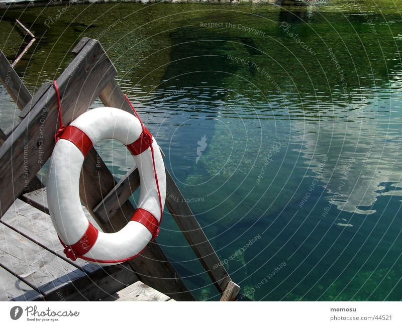 SOS II See Teich Ferien & Urlaub & Reisen Rettungsring Steg Wasser Schwimmen & Baden Hilfsbereitschaft