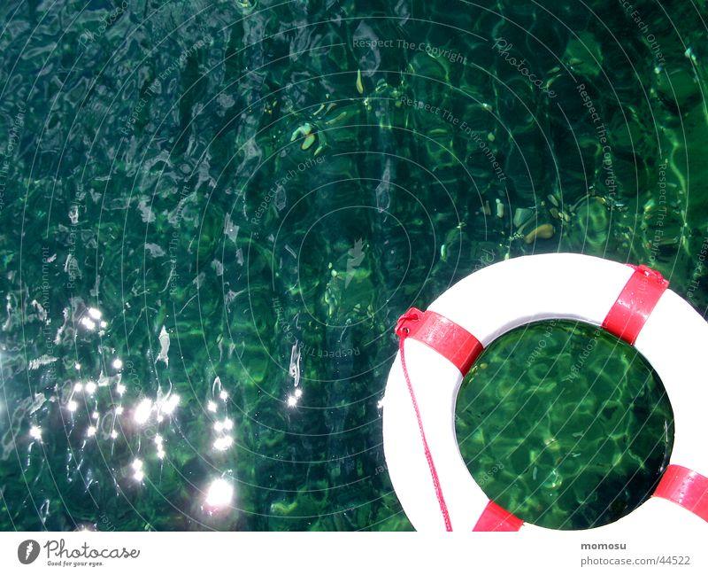 SOS Wasser Ferien & Urlaub & Reisen Sport See Hilfsbereitschaft Kreis Teich Rettung Rettungsring