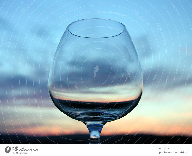 Glas Himmel Fototechnik Cognacschwenker