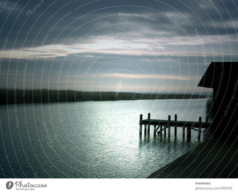 ...jedem Anfang wohnt ein Zauber inne Sonnenaufgang See Steg Badehaus Licht Stimmung Österreich Ferien & Urlaub & Reisen Morgen Beginn Wasser Neusiedlersee