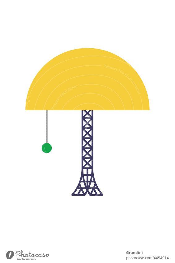 Öko-Lampe Ökologie Grafik u. Illustration graphisch einfach ökologisch grün Strommast Elektrizität