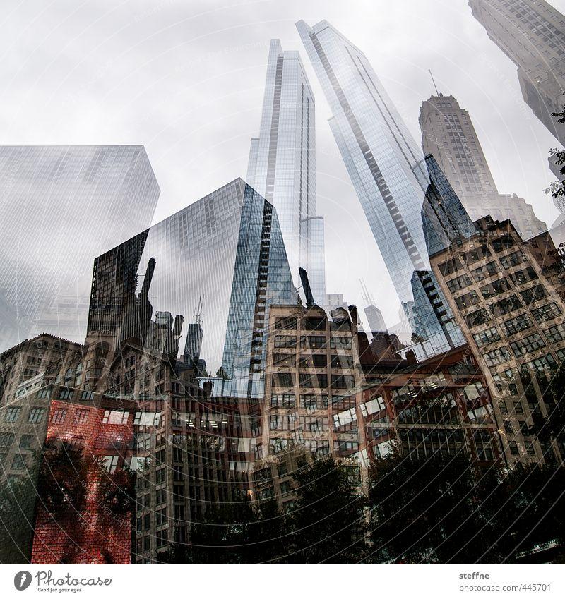 Ch-Chicago. Stadt Hochhaus USA Skyline Stadtzentrum Doppelbelichtung überbevölkert