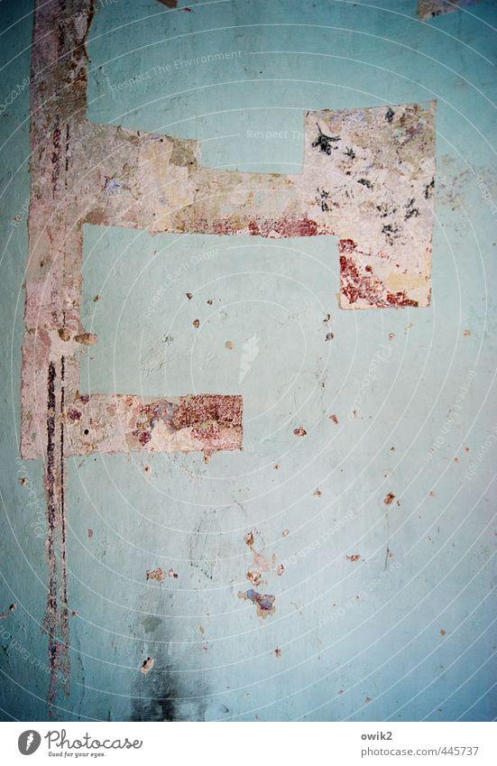Wandschmuck alt Mauer Wohnung Fassade Häusliches Leben kaputt Ecke Spuren historisch verfallen Tapete Riss eckig gerade Schaden
