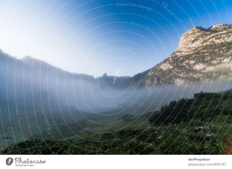 Funtensee im grauen Morgennebel am Könnigsse Natur Sommer Pflanze Landschaft Umwelt Berge u. Gebirge Gefühle Felsen Horizont Nebel Klima authentisch Tourismus