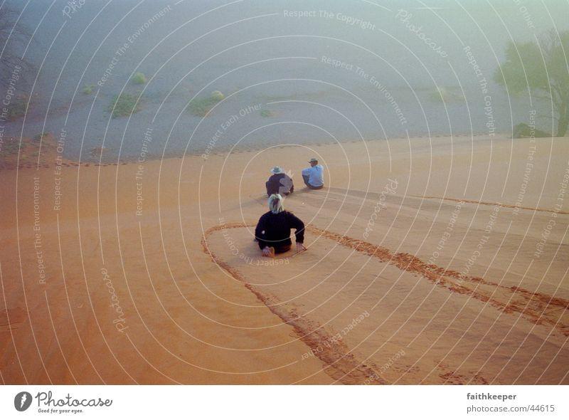 downhill Berge u. Gebirge Nebel Wüste Stranddüne Namibia Afrika Sossusvlei