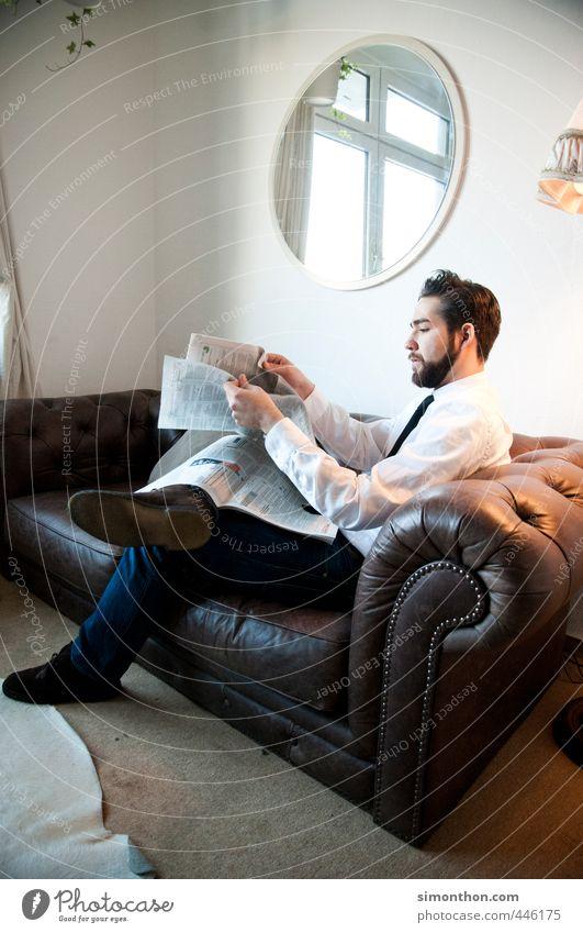 Sonntags Erholung ruhig Stil Business elegant Häusliches Leben Erfolg lernen Studium Macht Pause Bildung Student Erwachsenenbildung Spiegel