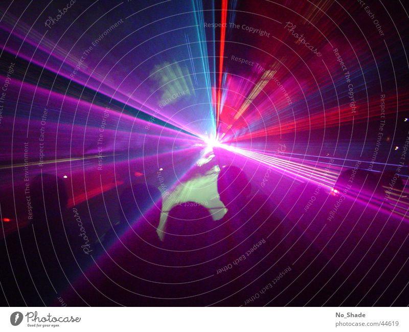 Laser 1 Licht Lasershow Party Disco obskur Lichterscheinung Light Partystimmung