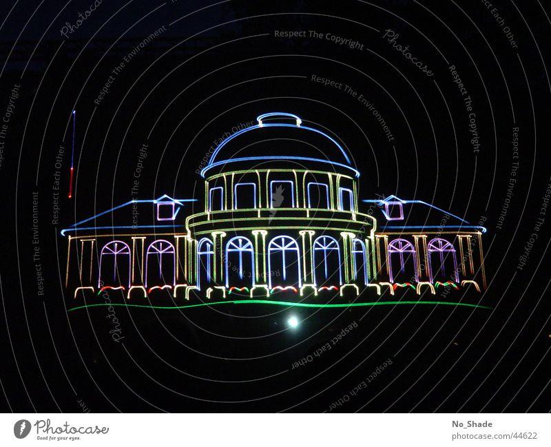 Spielbank Architektur Bild Laser Spielkasino Projektionsleinwand Lasershow Bad Ems Rheinland-Pfalz-Tag