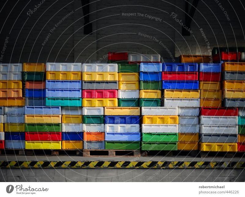 Fish Boxes Farbstoff Mauer Dekoration & Verzierung frisch Sauberkeit Wandel & Veränderung Fisch Idee viele Kitsch Kasten Sammlung nachhaltig Kiste