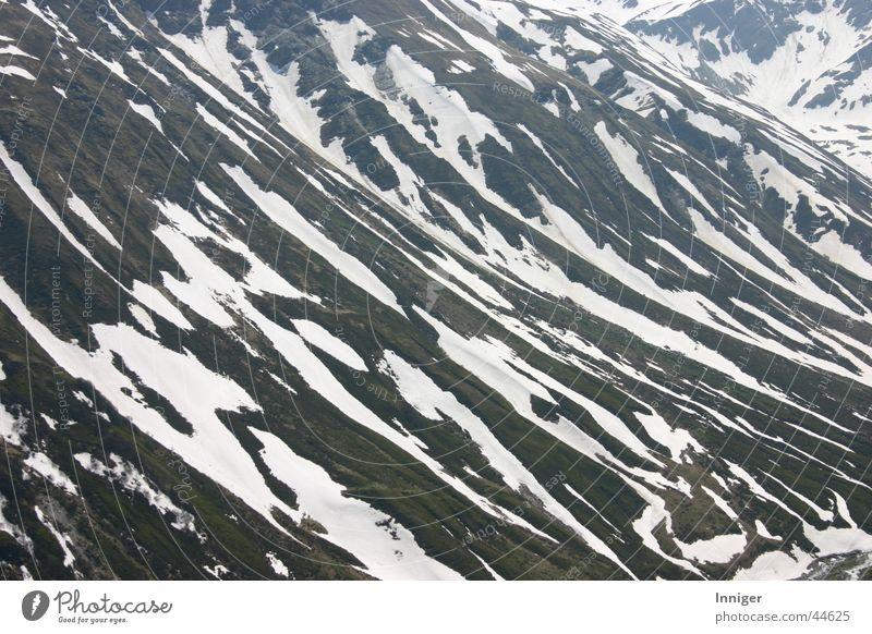Frühlingszebra Berge u. Gebirge Frühling Berghang Schneeschmelze Furkapass