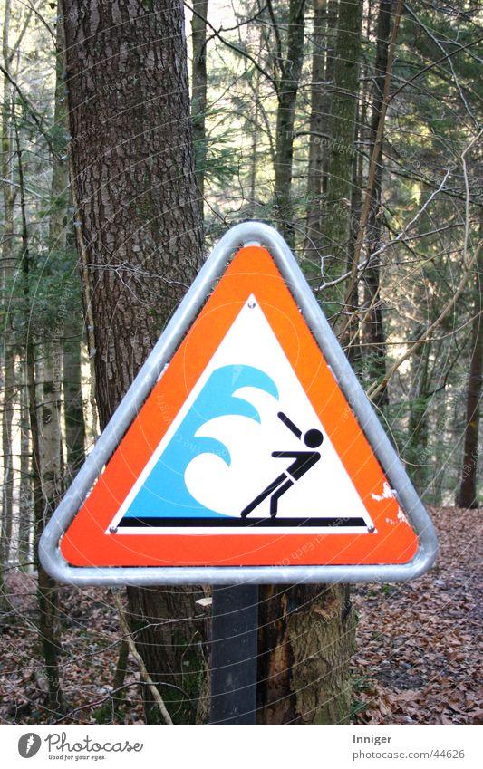 Achtung Flutwelle gefährlich Fluss bedrohlich Freizeit & Hobby Vorsicht Warnschild