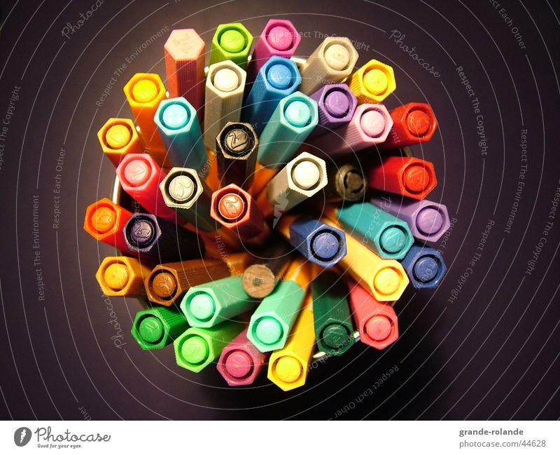 farbenfroh Farbe streichen Kreativität Schreibstift Paletten Filzstift