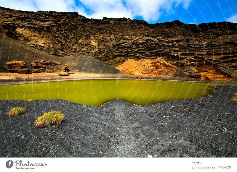 Himmel Natur Ferien & Urlaub & Reisen blau grün weiß Sommer Meer Landschaft Wolken Strand gelb Küste Stein Sand Felsen