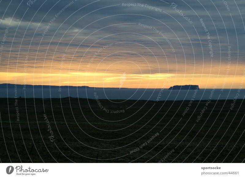 Abendstimmung in Island Dämmerung Abenddämmerung