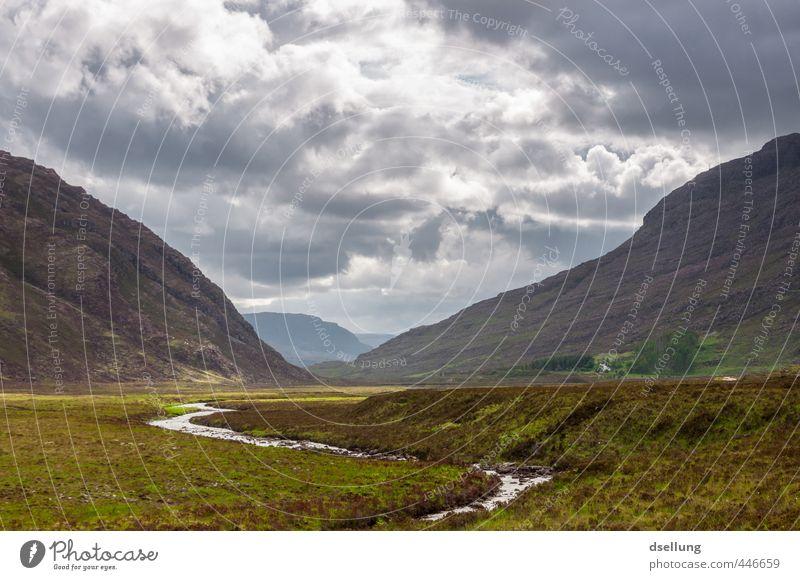 In einem Land vor unserer Zeit Umwelt Natur Landschaft Pflanze Himmel Wolken Sommer Gras Sträucher Moos Heide Berge u. Gebirge Bach genießen wandern frisch