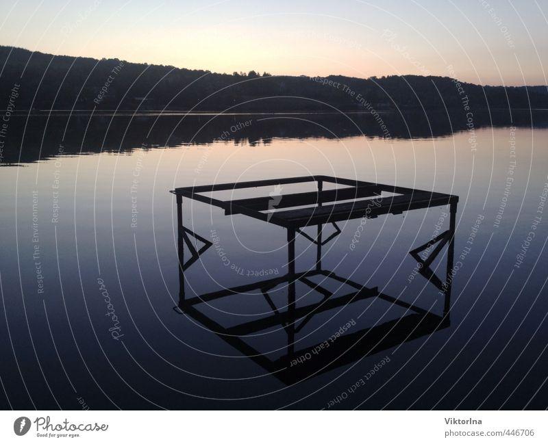 Spiegelglatt Himmel Natur Ferien & Urlaub & Reisen Wasser Sommer Erholung ruhig Landschaft Strand Umwelt Küste Freiheit Glück Schwimmen & Baden See Tourismus