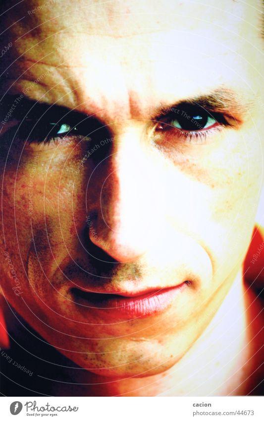 Augenblicke Mann Gesicht Auge Tiefblick