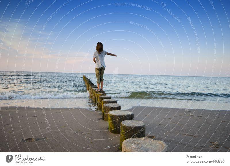 Buhne Freude harmonisch Wohlgefühl Zufriedenheit ruhig Meditation Duft Freizeit & Hobby Ferien & Urlaub & Reisen Sommer Sommerurlaub Strand Meer Mensch feminin