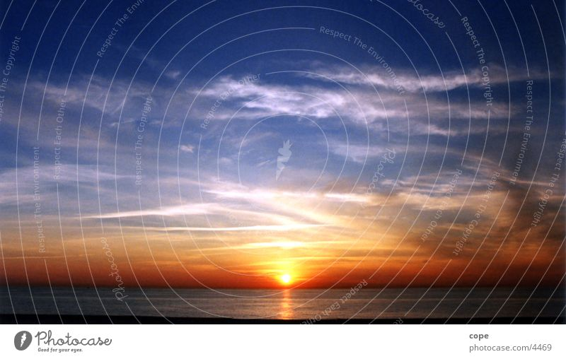 sunset Natur Sonne Meer Schweden