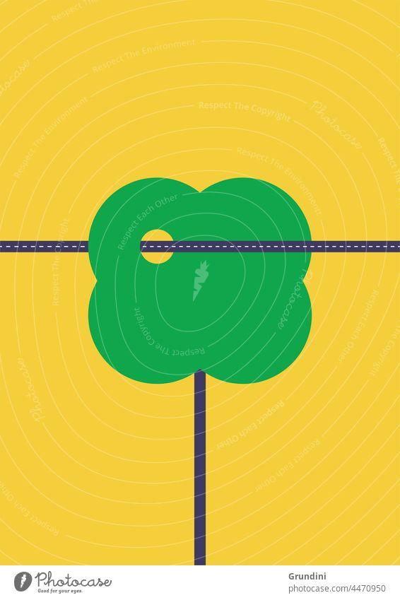 Öko-Transport Ökologie Grafik u. Illustration graphisch einfach ökologisch Klimawandel Erneuerbare Energien erneuerbare Energien Baum Verkehr Straßen