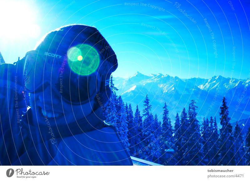 boarder Gegenlicht Winter Fototechnik Schnee